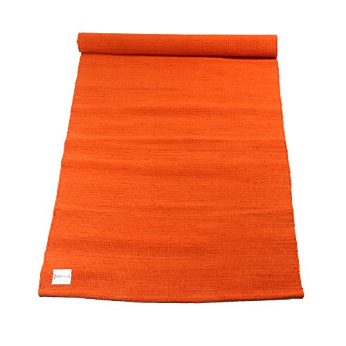 Sol Living Cotton Yoga Mat Organic Cotton Yoga Mat Non-Slip Yoga Rug Eco-Friendly Multi-Purpose Yoga Equipment Fitness Mat Mediation Pad 24 x 72 Tango
