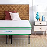 Linenspa 10 Inch Latex Hybrid Mattress with Linenspa 14 Inch Folding Platform Bed Frame - Queen