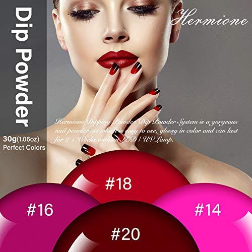 Nail Dipping Powder - 1.05oz x 4 Colors Large Capacity Dip Powder Set for French Manicure Nail Art