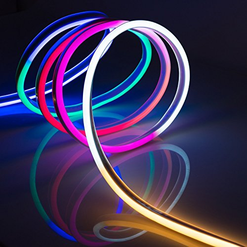 WYZworks Multi RGB Flexible Water Resistant Soft Single Side LED Neon Rope Light Strip Bar 100FT by WYZworks