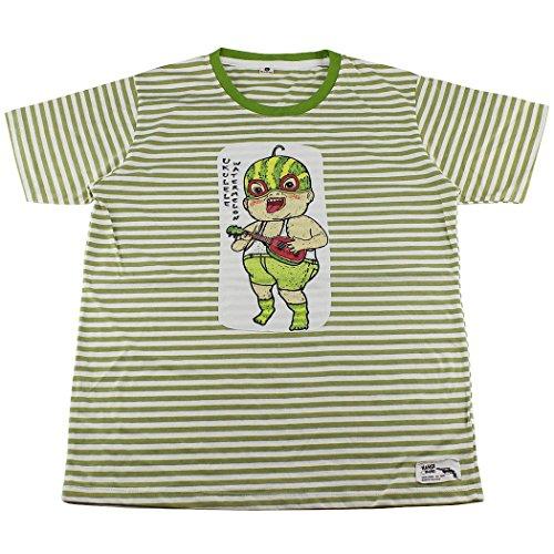 Japan Cartoon Character Striped T-Shirt / BG02.2 size (Gangster Cartoon Characters)