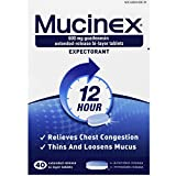Mucinex SE 12 Hr Chest Congestion Expectorant, Tablets, 40ct