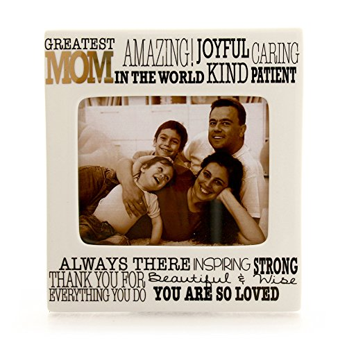 "Enesco Our Name is Mud ""Greatest Mom"" Ceramic Photo Frame, 4""x5"" by Enesco"