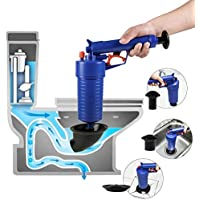 Joyevic Air Drain Blaster,Power Toilet Plunger,Pressure Pump Cleaner,High Pressure Plunger for Bath/Toilets/Sink/Floor Drain/Kitchen Clogged Pipe.