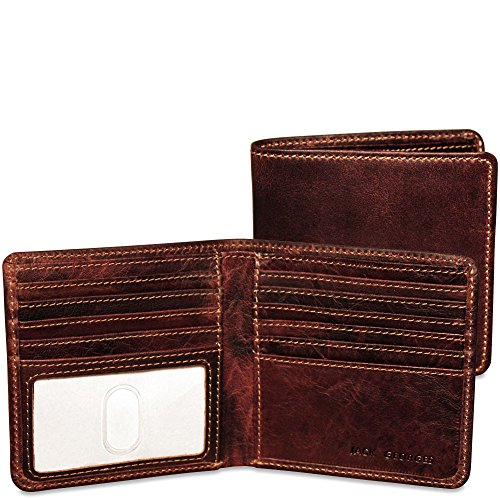 Jack Georges Voyager Hipster Leather Wallet in Brown