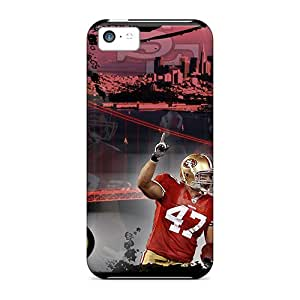 Nice-cheap-cases Iphone 5c Shock-Absorbing Hard Phone Cover Allow Personal Design Stylish San Francisco 49ers Pattern [nIg24304zcsr]