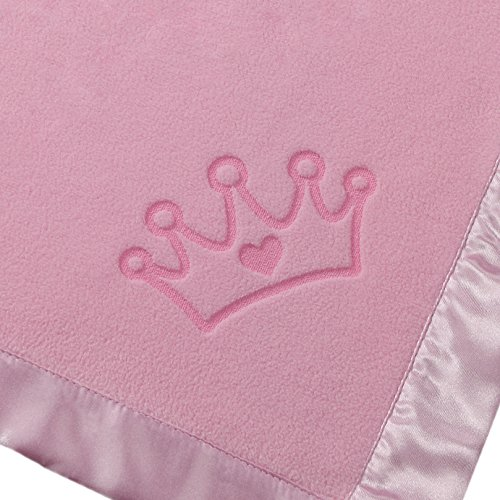 Custom Catch Princess Baby Blanket for Girls - Toddler Girl Crib Bedding, Receiving Blankets (Pink, Blue: 1 Text Line) by Custom Catch (Image #6)