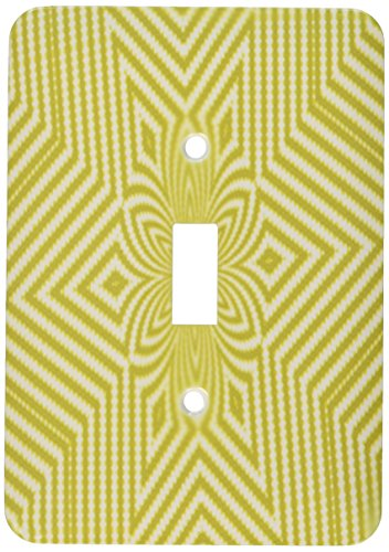 Lime Textile Pattern Green - 3dRose lsp_18473_1 Textile Pattern Lime Green And White Large Star Toggle Switch