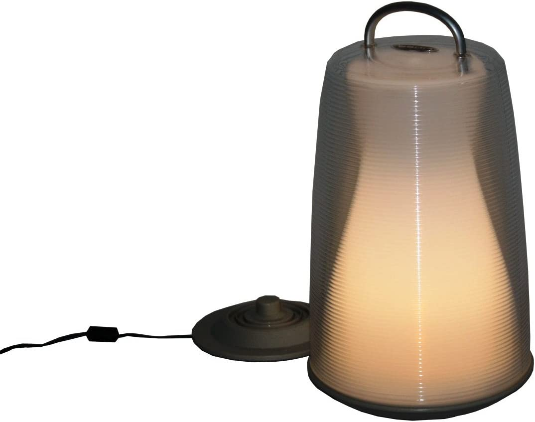 Table in a Bag LIG1507 Luau Light 13-Inch Rechargeable Portable LED White Lantern