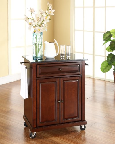 home & kitchen, furniture, kitchen & dining room furniture,  kitchen islands & carts  discount, Crosley Furniture Cuisine Kitchen Island with Solid Black Granite Top » Vintage Mahogany in US1