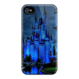 Hot Fashion Design Case Cover For Iphone 4/4s Protective Case (blue Castle) by ruishername