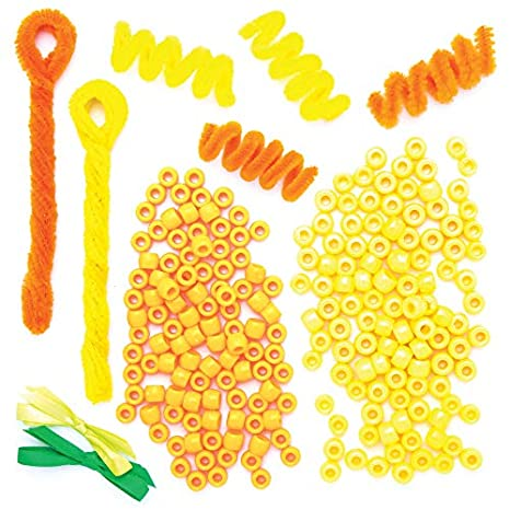 Hanging Easter Decorations Mix and Match Foam Stickers Baker Ross Daffodil Easter Flower Decoration Kits 8 Pack
