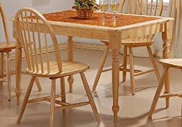 Natural Finish Tile Top Dining Table Dinette Tables: Amazon.co.uk ...