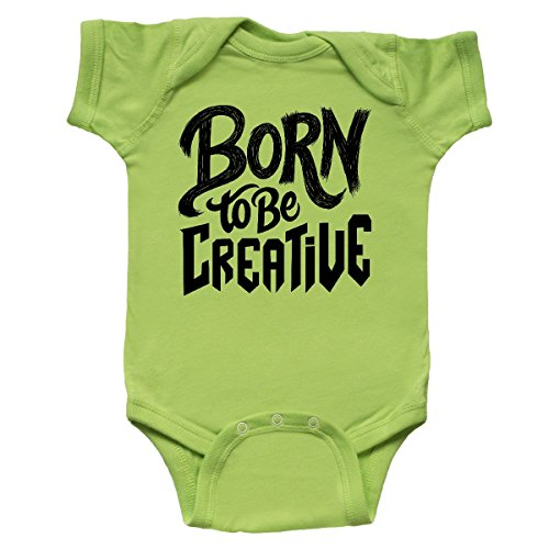 Creative Gifts Lime Green (Inktastic - Born To Be Creative Hand Lettering Infant Creeper Newborn Key Lime)