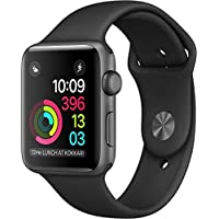 Apple Watch Series 1 42mm Smart Watch with Space Gray Aluminum Case & Black Sport Band