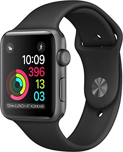 Apple Watch Series 1 42mm Smartwatch (Space Gray Aluminum Case, Black Sport Band) by Apple