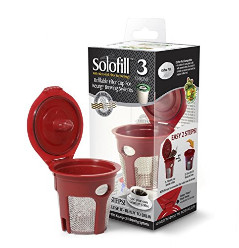 SOLOFILL K3 CHROME CUP Chrome Refillable Filter Cup for Keurig(R) (Single)