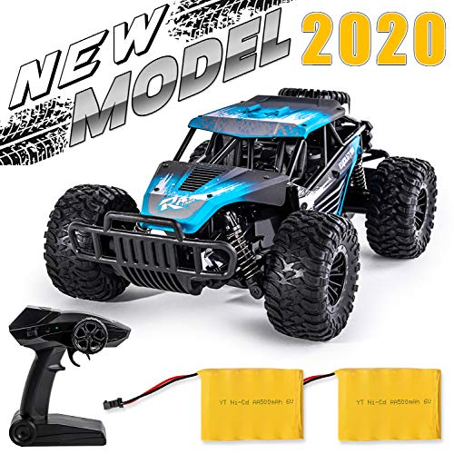 High Speed Off Road Remote Control Car for Kids - 1:16 RC Rock Crawler Toy Truck with Rechargeable Battery - Great Gift for Boys and Girls ()