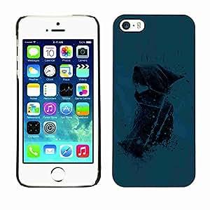 Planetar® ( Blue Girl ) Fundas Cover Cubre Hard Case Cover Apple iPhone 5 / 5S