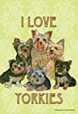 Yorkies – Pipsqueak Productions Large Flag For Sale