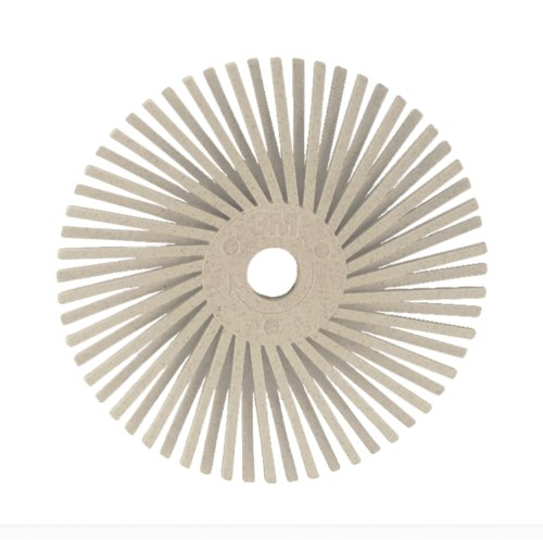 Scotch-Brite(TM) Roloc(TM) Radial Bristle Disc, Ceramic, 25000 rpm, 3 Diameter, 120 Grit, White (Pack of (White Ceramic Disk)
