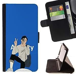King Case - FOR Samsung Galaxy Note 4 IV - make me want you again - Prima caja de la PU billetera de cuero con ranuras para tarjetas, efectivo Compartimiento desmontable y correa para la mu?eca