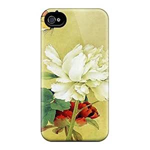 High Quality Flower Art Case For Iphone 4/4s / Perfect Case