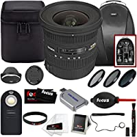 Sigma 10-20mm f/3.5 EX DC HSM ELD SLD Wide-Angle Lens for CANON DSLR Cameras w/ With Focus Accessory Bundle