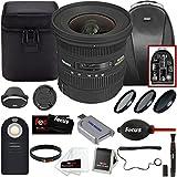 Sigma 10-20mm f/3.5 EX DC HSM Autofocus Zoom Lens for Canon Cameras With Focus Accessory Bundle