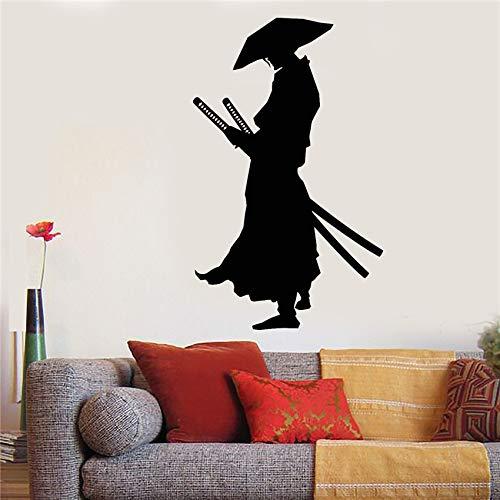 BZDHWWH Vinilo Tatuajes De Pared Guerrero Samurai Katana Espadas ...