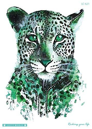 tatuaje de leopardo para el brazo LC621: Amazon.es: Belleza