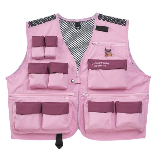 Lite Waders - Caddis Waders Women's Deluxe Ultra Lite Vest, Pink/Burgundy, XX-Large