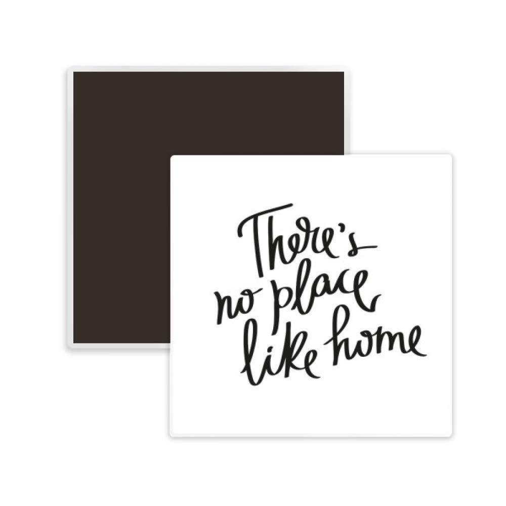 There's No Place Like Home Quote Square Ceramics Fridge Magnet 2pcs
