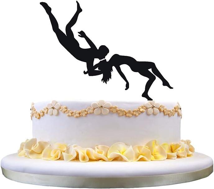 Decoración para tarta de boda – Antena acrobática hombre y ...
