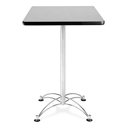 Amazoncom Square Cafe Table Chrome Base X Dimensions - Cafe table dimensions