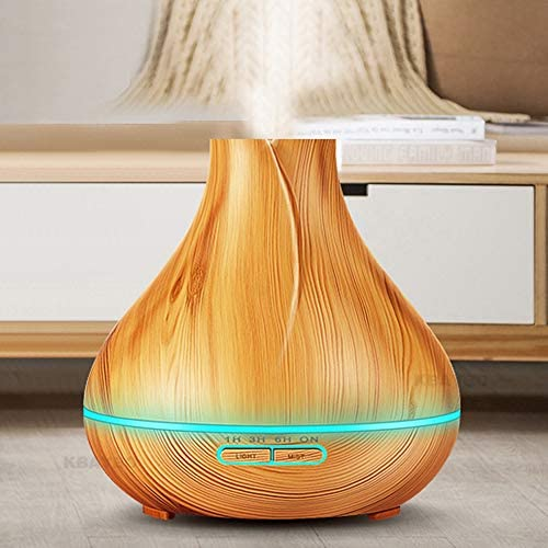 ANLD 400ml Fernbedienung ätherisches Öl-Diffusor & Ultrasonic Cool Mist Aromatherapie Humidifiers-7 Farbwechsellichter Mist Einstellung für Home Office Bedroom