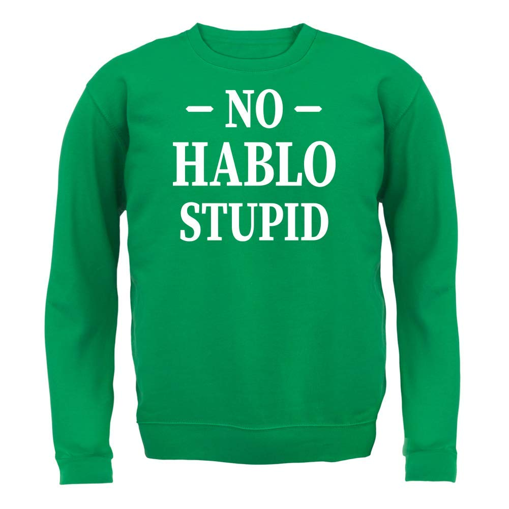8 Colours No Hablo Stupid Kids Jumper