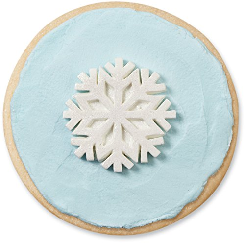 Wilton 710-3467 12 Count Snowflakes with Sparkle Royal Icing Decorations - Snowflake Icing Decorations