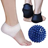 Plantar Fasciitis Therapy Wraps, Shock Absorbing Silicone Gel Sleeve, Foot Massage Ball, Kit For Instant Foot Pain Relief by Blisstime