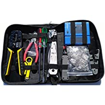 UbiGear Cable Tester +Crimp Crimper +50 pcs RJ45 CAT5e Pass-Through Connector Plug Network Tool Kits (Premium568)