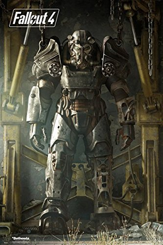 Fallout-4-Gaming-Poster-Print-Vault-Tec-Compilation-Vault-Boy-Size-24-x-36