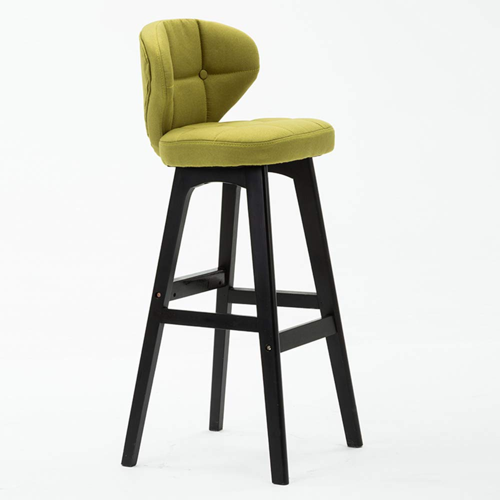 1 434078cm Bar Chair, Kitchen Breakfast Chair Wooden Leg Cafe Simple Modern(43  40  78cm) HPLL (color   1, Size   43  40  78cm)