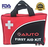 2-in-1 First Aid Kit (120 Piece) + Bonus 32-Piece Mini First Aid Kit: Compact, Lightweight for Emergencies at Home, Outdoors, Car, Camping, Workplace, Hiking & Survival.