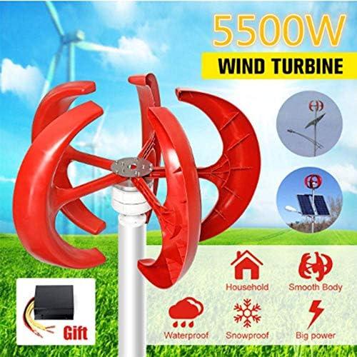 SISHUINIANHUA 5500W 12V 24V 5 Blades Vertikal Axi Wind Turbines Generator Lantern Motor Kit Elektromagnetische Für Privatanwender Straßenbeleuchtung Verwenden,24v