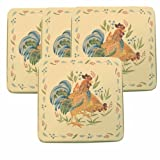 Corelle Gas Burner Covers, Country Morning, 4 Covers (9'x9')