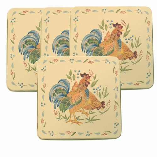 Corelle Coordinates by Reston Lloyd Square Gas Stovetop Burner Covers, Set of 4, Country Morning
