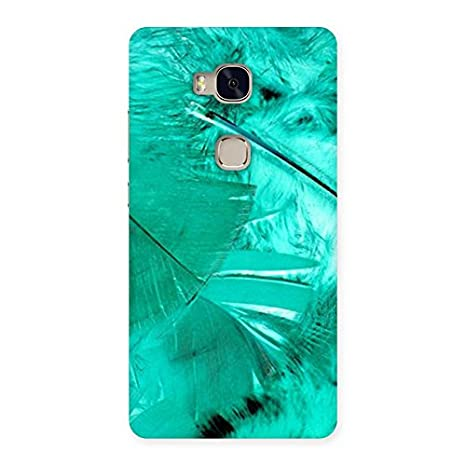 Feather Cyan Back Case Cover for Huawei Honor 5X: Amazon in