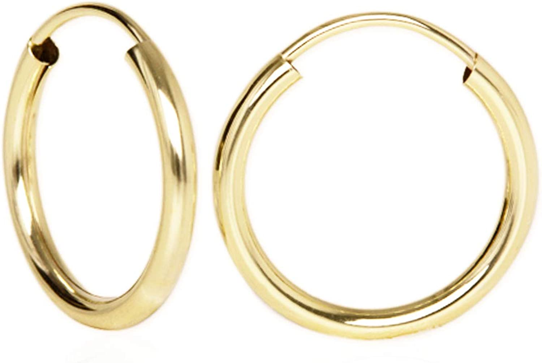 Goldmaid Creolen Ohrringe 925 Sterlingsilber hochglanz Unisex Ø 20 mm NEU
