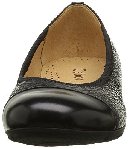 Gabor Shoes Sport, Bailarinas para Mujer Multicolor (Argento/schwarz 69)