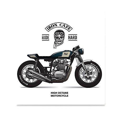 EzPosterPrints - Vintage Chopper Motorcycles Riders Posters - Poster Printing - Wall Art Print for Home Office Decor - Ride Hard 2-12X12 inches